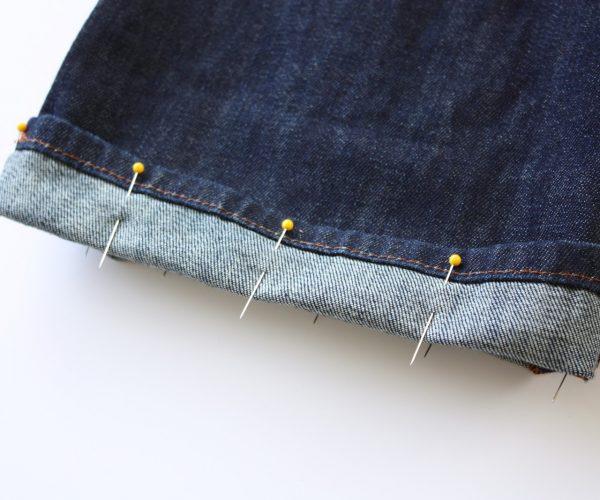 Подгиб джинс и брюк