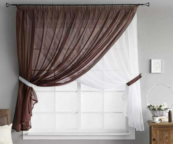 укоротить шторы тюль